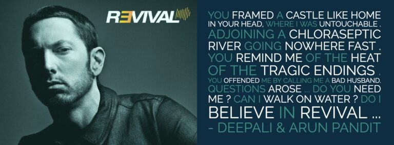 A Poem Tribute to Eminem's New Album Revival  By Deepali & Arun Pandit Eminem Revival Tribute By Deepali Arun Pandit