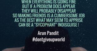 Introspective Poem Sycophants by Arun Pandit Introspective Poem Sycophants by Arun Pandit