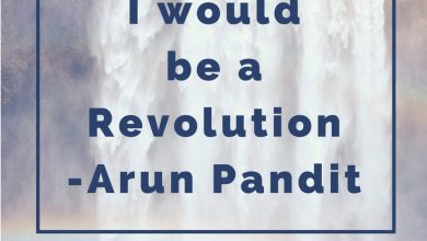 Photo of Quote One Day I would be a Revolution by Arun Pandit