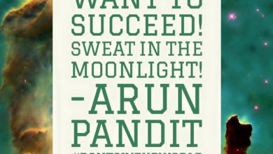 Photo of Quote on Moonlight , Sweat & Success by Arun Pandit