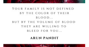 Quote on Family and Blood by Arun Pandit Quote on Family and Blood by Arun Pandit