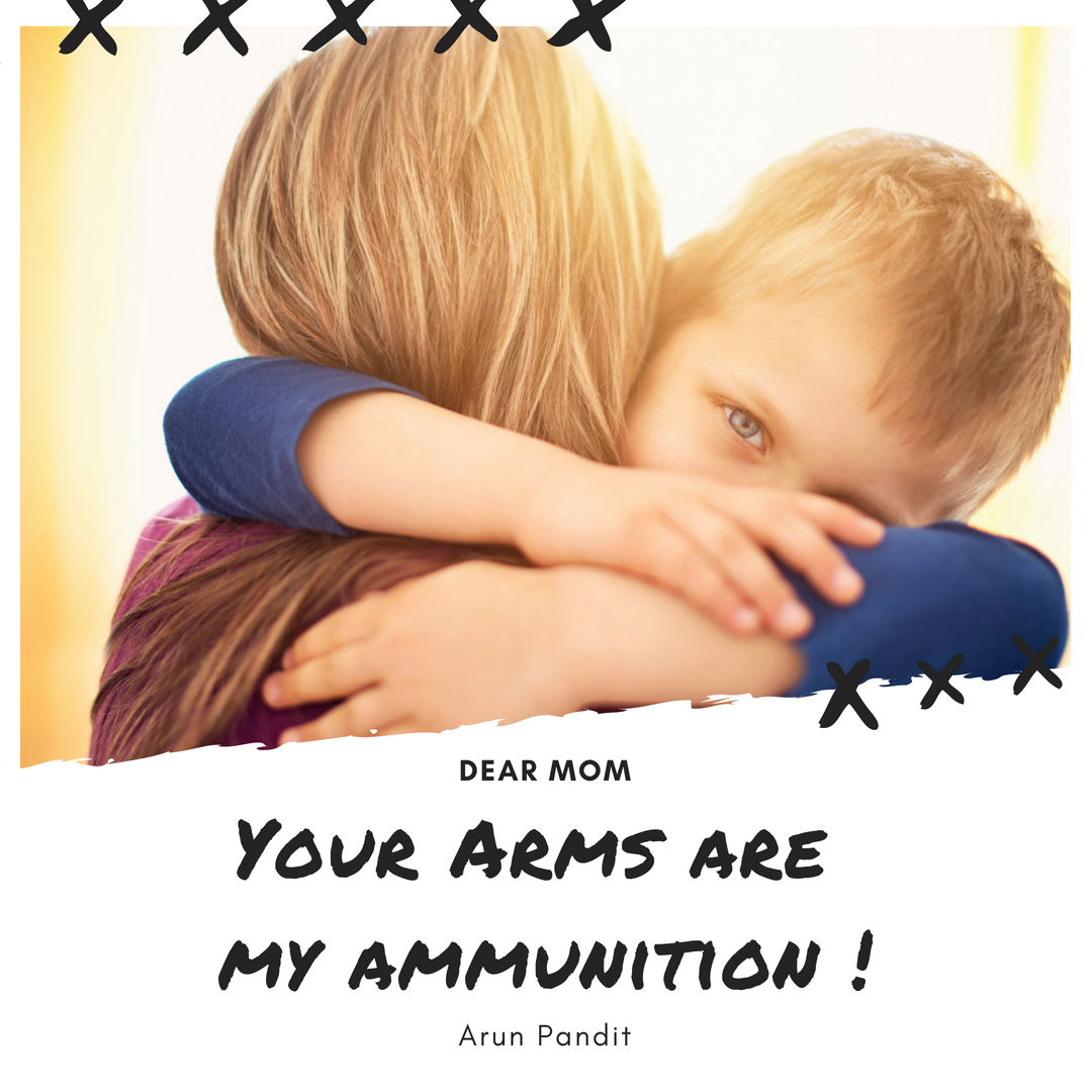 Quote on Mothers Arm by Arun Pandit Quote on Mothers Arms by Arun Pandit