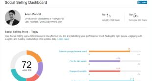 TOP 1% in SCM Sales in LinkedIn Social Selling Index Linkedin Arun Pandit Social Selling Index