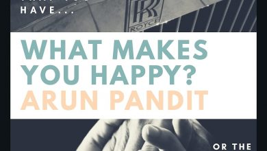 Photo of Quote What makes you happy ? by Arun Pandit