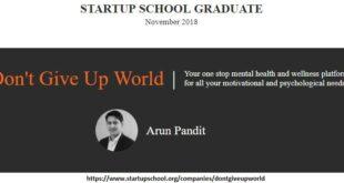 Graduated from Y Combinator Startup School Nov 2018 : Arun Pandit Graduated from Y Combinator Startup School Nov 2018 Arun Pandit