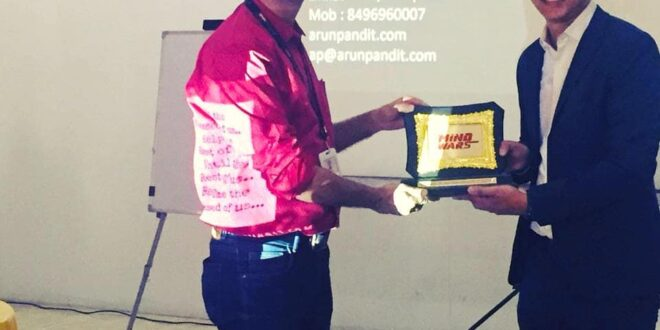 """Guest Speaker on """"How to be a Winning Salesperson """" at Xuberance by Zee5 & Xpress Minds : Arun Pandit Guest Speaker Mind Wars by Zee5 Xpress Minds"""