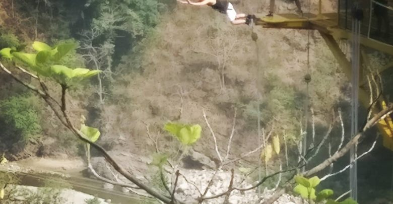 Photo of Arun Pandit featuring in the Best Video of Bungee Jumping at Jumpin Heights , Rishikesh , India