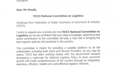 Photo of Arun Pandit Invited to be a member of FICCI National Committee on Logistics