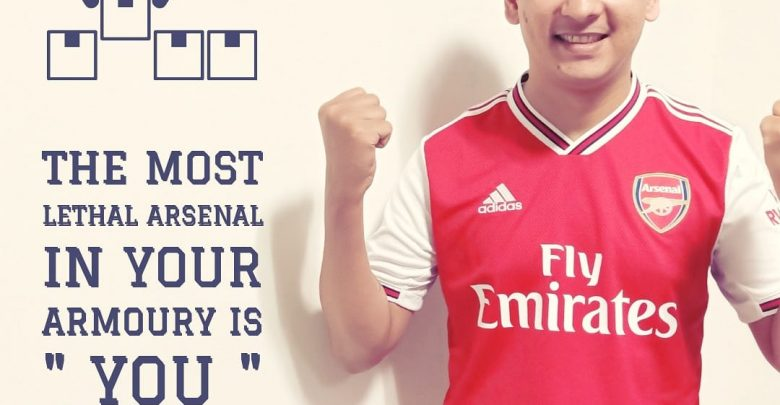 Photo of Quote on the most lethal Arsenal in your Armoury by Arun Pandit
