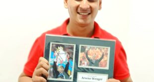 Memorabilia : Autograph of Arsene Wenger & Robert Pires , Arsenal Football Club Arun Pandit Collectible Arsene Wenger Arsenal Autograph