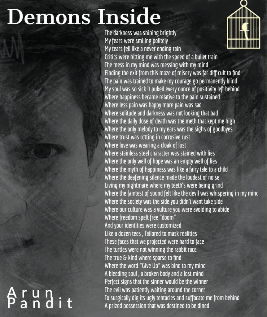 Demons Inside : Motivational Dark Poem by Arun Pandit Demons Inside Poem by Arun Pandit Part 1 1