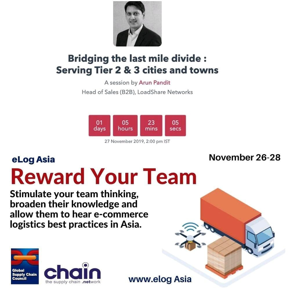 Arun Pandit Speaker at the E-Commerce Logistics Asia Virtual Summit by Global Supply Chain Council (GSCC) Arun Pandit Speaker elog.asia virtual summit Global Supply Chain Council
