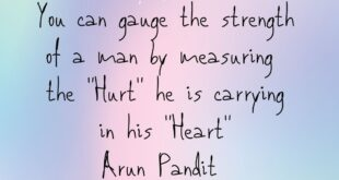 Quote on Heart , Hurt & a Man's strength by Arun Pandit Arun Pandit Quote on Man strength Hurt Heart