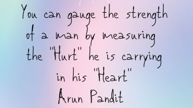 Photo of Quote on Heart , Hurt & a Man's strength by Arun Pandit