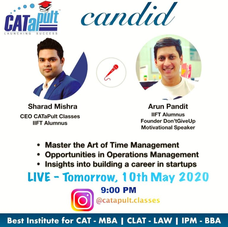 Candid by CATaPult : A webinar with Arun Pandit Webinar Arun Pandit Catapult MBA Coaching Mentorship