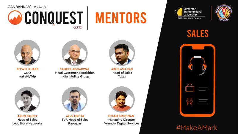 Mentor - Sales at BITS Pilani's Startup Accelerator Conquest 2020 | Arun Pandit Conquest BITS Pilani Startup Mentorship Arun Pandit