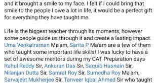 Ashish Mishra Teachers Day dedication