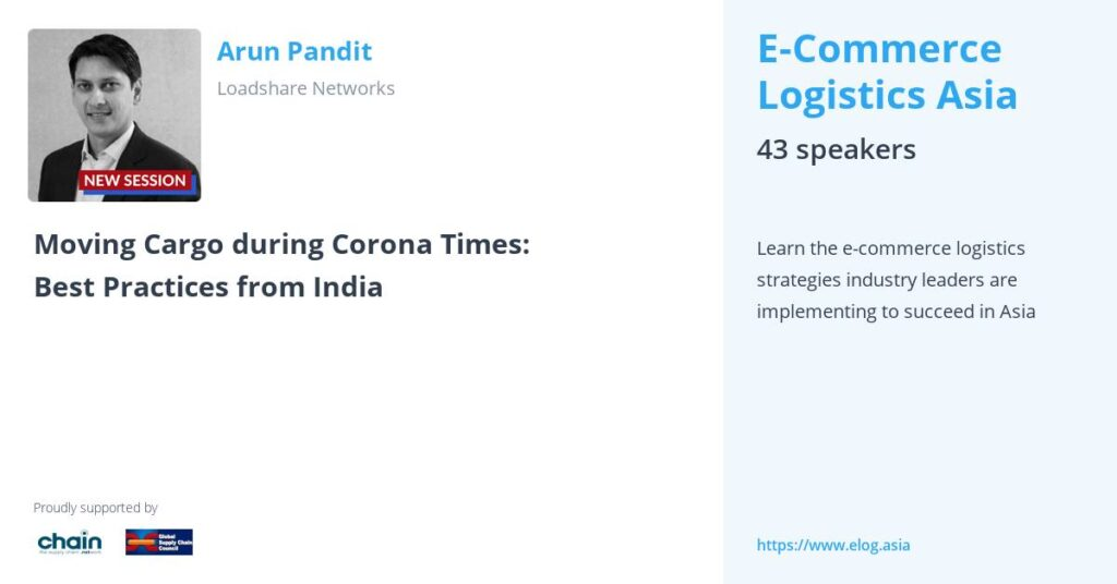 E-Commerce Logistics Asia Speaker