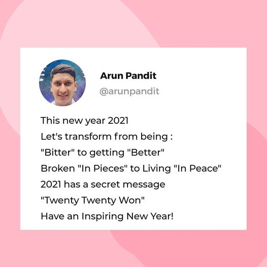 New Year Quote by Arun Pandit