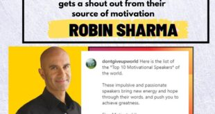 Robin Sharma Shoutout Dont Give Up World