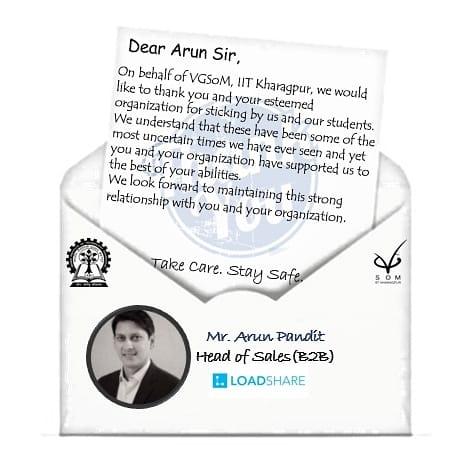 VGSOM IIT KGP Thank you Letter
